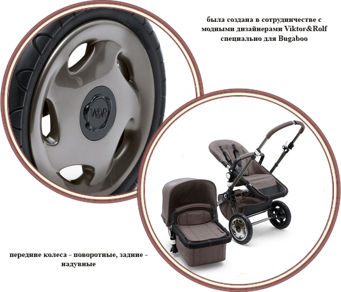 фото Коляска 2 в 1 Bugaboo Cameleon Viktor & Rolf My First Car (Бугабу Хамелеон Виктор Энд Рольф)