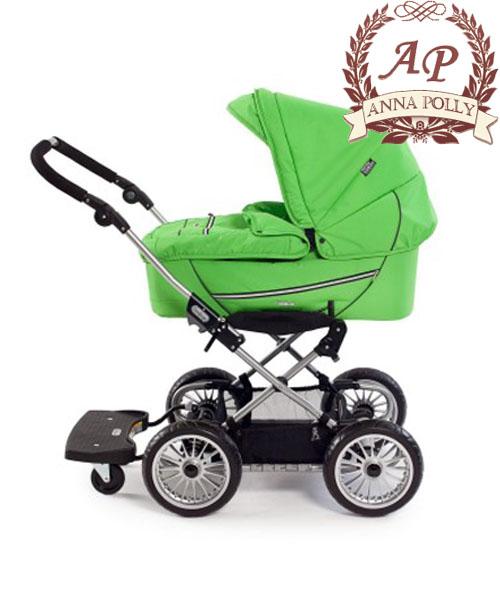 ...я бы на твоем месте рассмотрела подножку к коляске для второго ребенка.