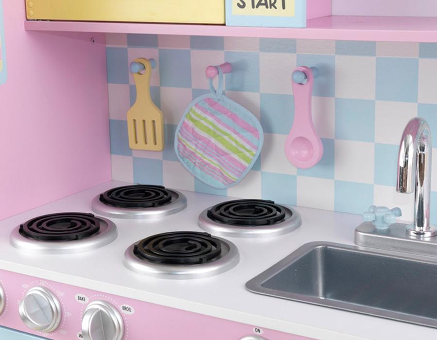Kidkraft kitchen 100 kidkraft vintage kitchen blue for Kitchen set list