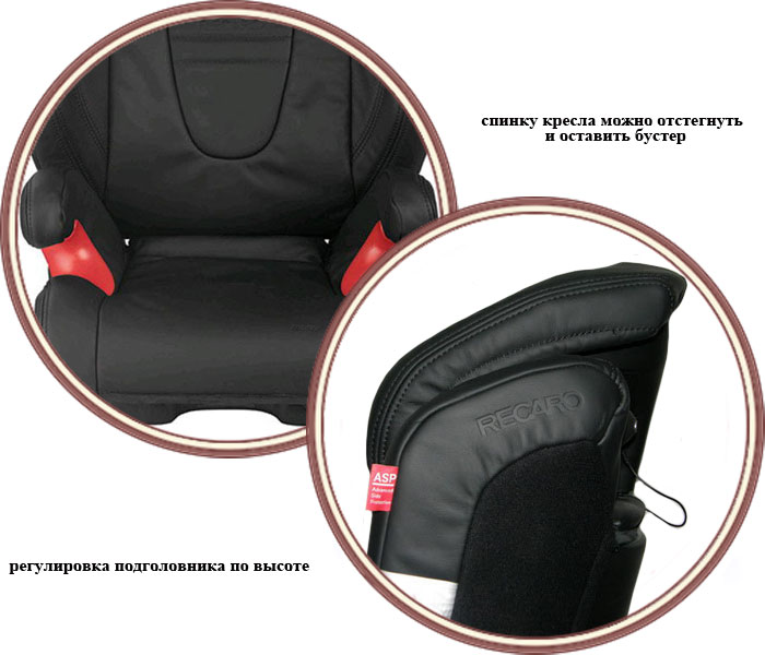 фото Автокресло Recaro Monza Seatfix Leather (Рекаро Монза Литер)
