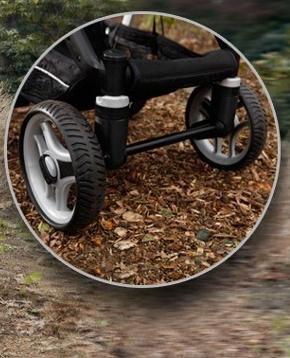 фиксируемые колеса коляски 2 в 1
